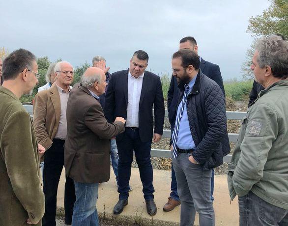 Ο Νεκτάριος Φαρμάκης επισκέφτηκε τα αντιπλημμυρικά έργα της Μακρυνείας Αγρινίου