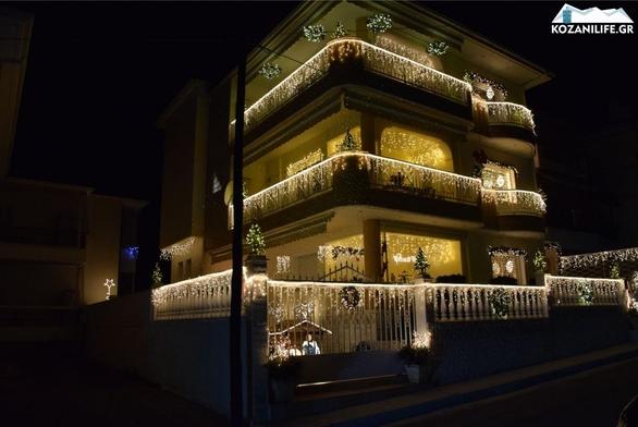 Κοζάνη: Σπίτι υπερπαραγωγή στολίστηκε για τα Χριστούγεννα (pics+video)