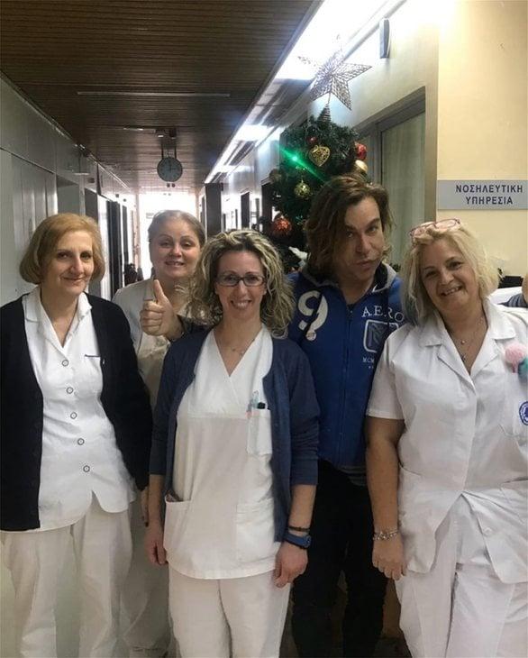 Χριστούγεννα στο νοσοκομείο για τον Τρύφωνα Σαμαρά (φωτο)