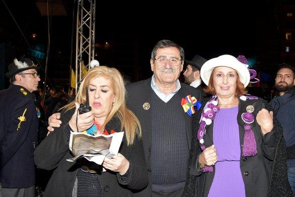 Τόνια Κοκοβίκα - διευθύντρια παραγωγής, Ήρα Κουρή - πρόεδρος καρναβαλικού οργανισμού και Κώστας Πελετίδης