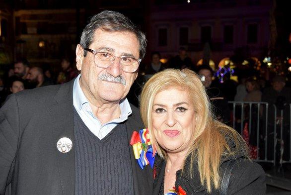 Ο Κώστας Πελετίδης με την Τόνια Κοκοβίκα