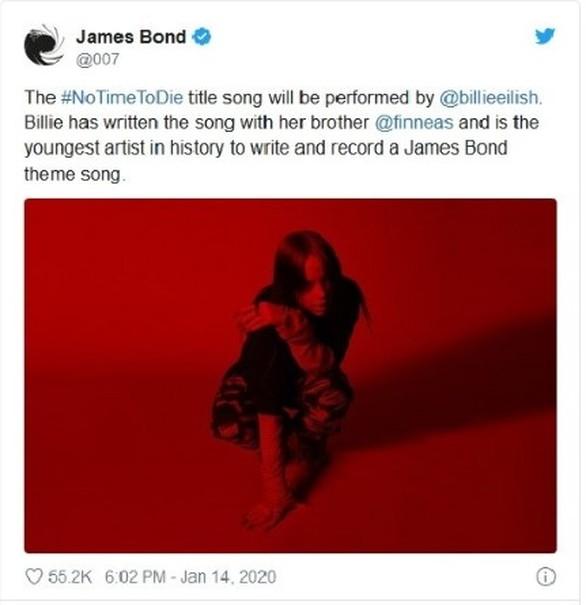 H Billie Eilish θα τραγουδήσει το theme song για τη νέα ταινία του James Bond!