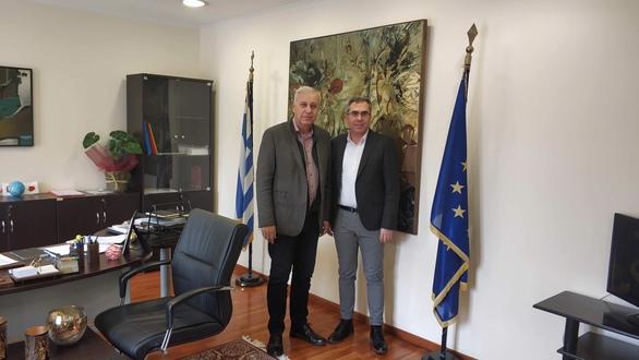 Ο Δήμαρχος Ερυμάνθου στην Αθήνα για θέματα της περιοχής
