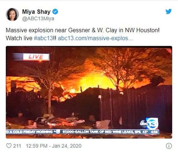 Ισχυρή έκρηξη σημειώθηκε στο Χιούστον