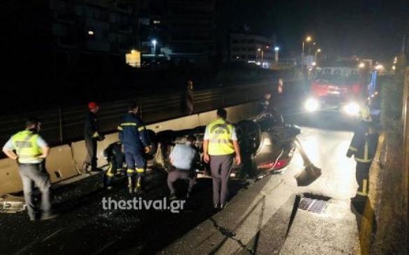 Θεσσαλονίκη: Τροχαίο με 14 πρόσφυγες τραυματίες