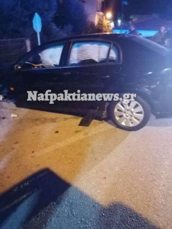 Ντελαπάρισε αυτοκίνητο στη γέφυρα ΣΚΑ στη Ναύπακτο