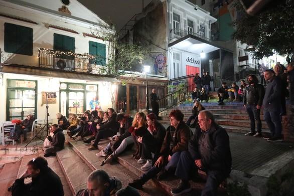 Πάτρα - Οι σκάλες της Γεροκωστοπούλου μεταμορφώθηκαν σε μια ανοιχτή θεατρική σκηνή (φωτο)