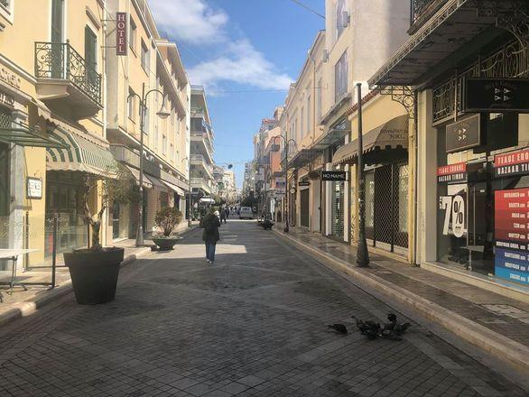 """Κορωνοϊός - Νέκρωσε το κέντρο της Πάτρας, """"ψυχή"""" δεν υπάρχει (φωτό)"""