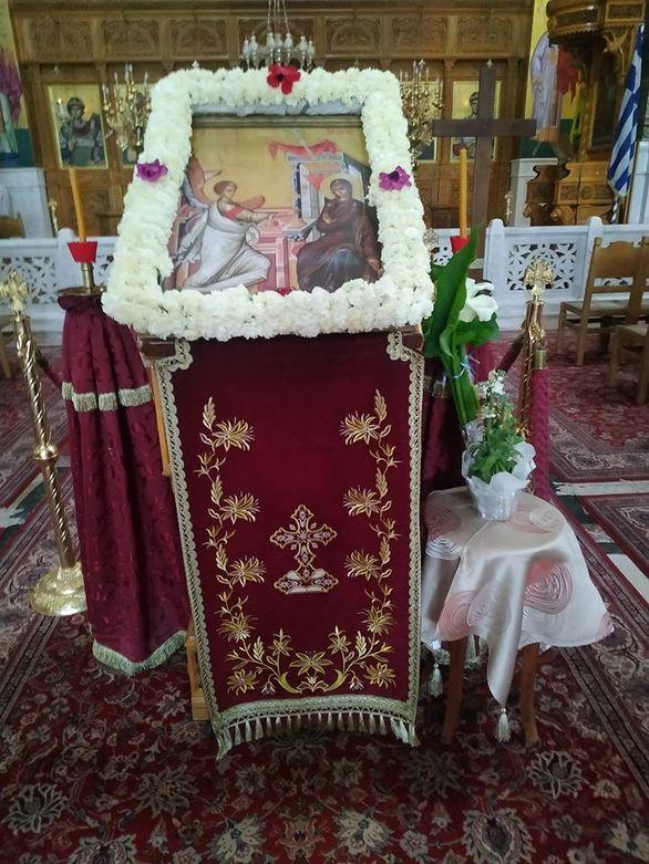 Ιερός Ναός Αγίας Σοφίας - Άδεια η εκκλησία, όμως η εικόνα του Ευαγγελισμού εκεί!