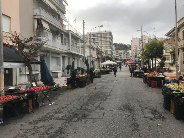 Πάτρα - Συνεχίζονται τα μέτρα προστασίας στις λαϊκές αγορές (φωτο)