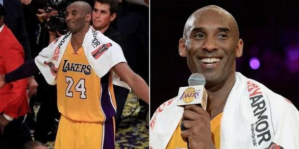 Πωλήθηκε 33.000 δολ. η πετσέτα του Kobe Bryant στην αποχαιρετιστήρια ομιλία του