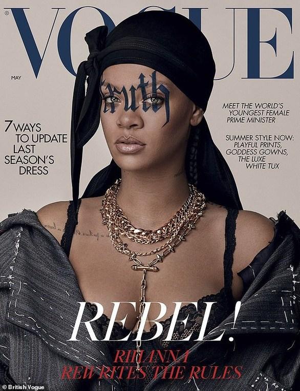 Rihanna - Στο εξώφυλλο της Vogue με μπουράγκ!