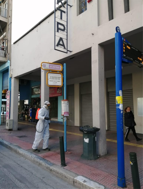 Αθήνα - Κορωνοϊός: Καθημερινή απολύμανση σε 750 στάσεις λεωφορείων και τρόλεϊ