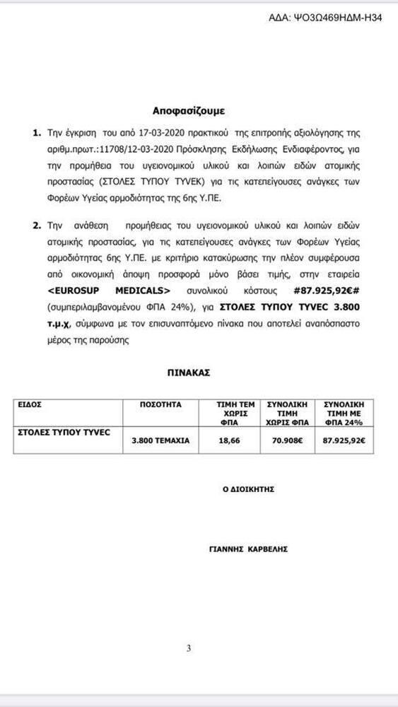 Πάτρα - Νέα καταγγελία Πολάκη για «αρπαχτή» στην 6η ΥΠΕ με προμήθεια υγειονομικού υλικού