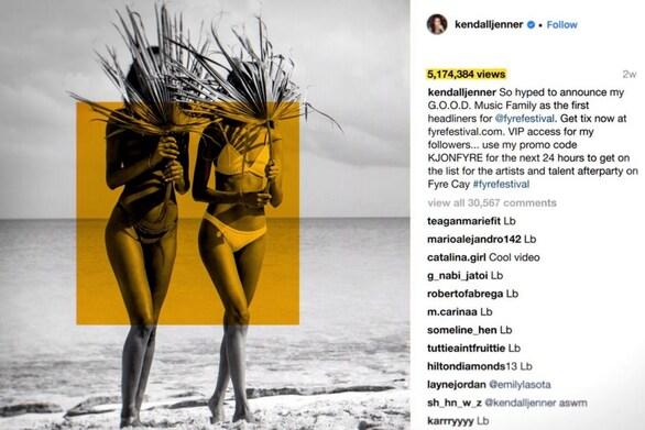 Η Kendall Jenner καλείται να πληρώσει 90.000 δολάρια για μία ανάρτηση στο Instagram