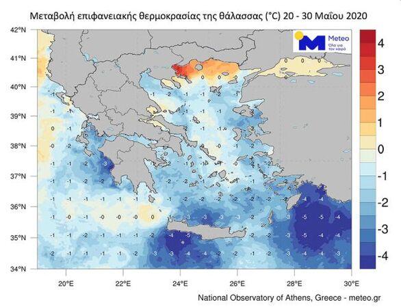 Μείωση ρεκόρ της θερμοκρασίας στη θάλασσα σε Δυτ. Ελλάδα και Ν. Ιόνιο