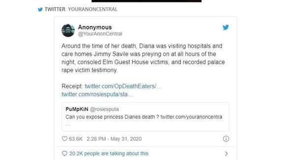Καταγγελία-βόμβα από τους Anonymous για το θάνατο της Νταϊάνα