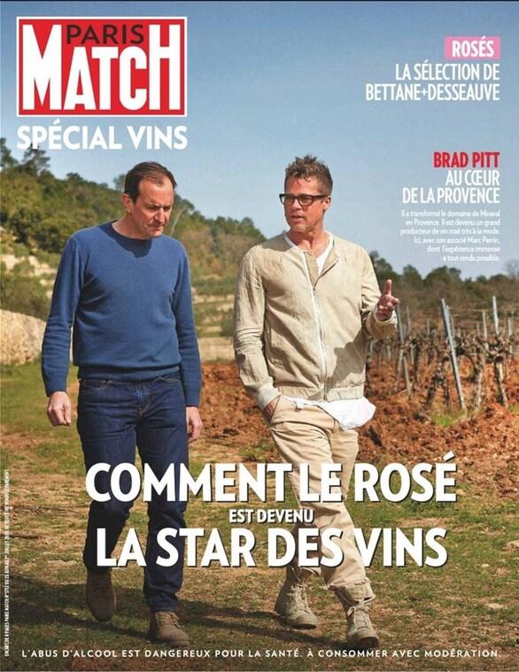 Brad Pitt - Το εξώφυλλο στο Paris Match μέσα στους αμπελώνες του Miraval (φωτο)