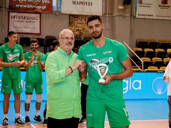 Αλέξανδρος Ράπτης - Ο 20χρονος Πατρινός αναδείχτηκε MVP της Volley League 2019-20