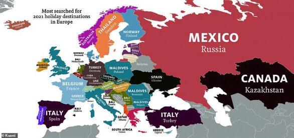 Πού θέλουν να ταξιδέψουν οι λαοί της Ευρώπης το 2021