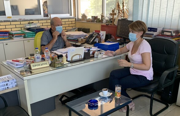Η Χριστίνα Αλεξοπούλου επισκέφθηκε τα ΚΤΕΛ Αχαΐας