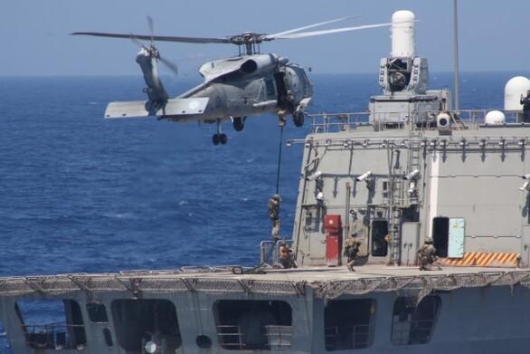 Εντυπωσιακή κοινή αεροναυτική άσκηση Ελλάδας - Γαλλίας - Κύπρου (φωτο+βίντεο)