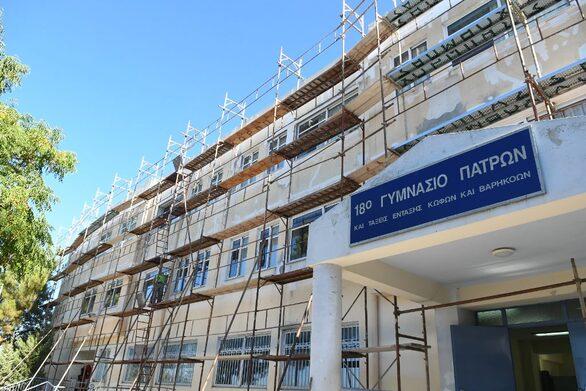 Πάτρα: Ο Κώστας Πελετίδης επισκέφθηκε τα σχολεία που επισκευάζει ο δήμος (φωτο)