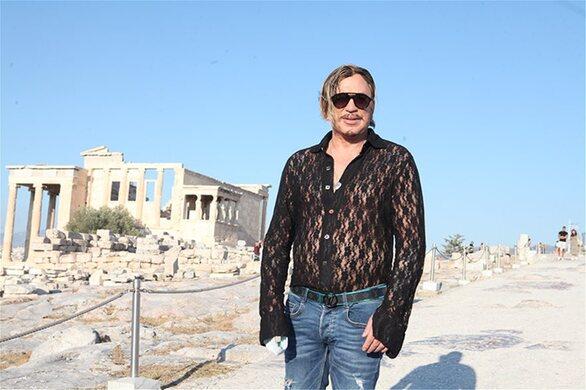 Ο Μίκι Ρουρκ επισκέφθηκε ττην Ακρόπολη (φωτο)