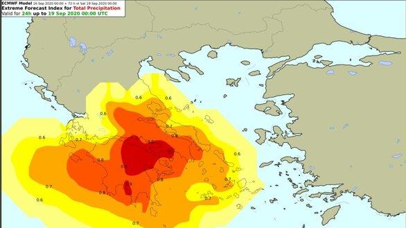 """""""Ιανός"""": Ποιες περιοχές αναμένεται να πληγούν πρώτες στη Δυτική Ελλάδα"""