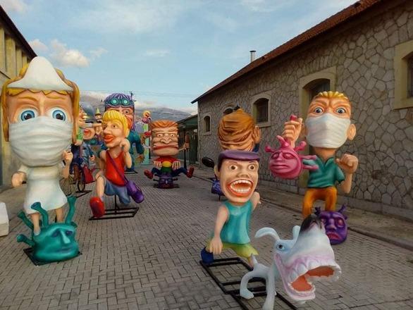 Όλα έτοιμα στα Παλαιά Σφαγεία Πατρών για το καρναβαλικό φεστιβάλ (φωτο)