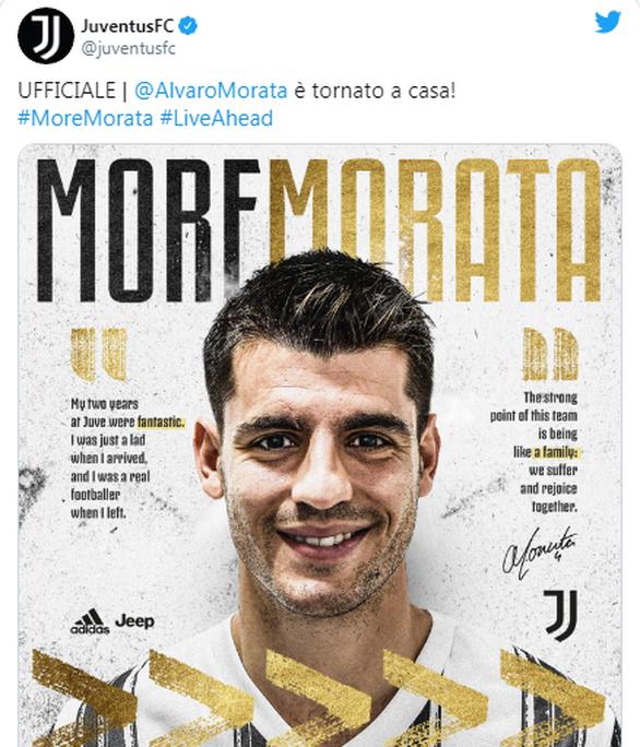 Serie A: Ο Αλβάρο Μοράτα επέστρεψε στη Γιουβέντους