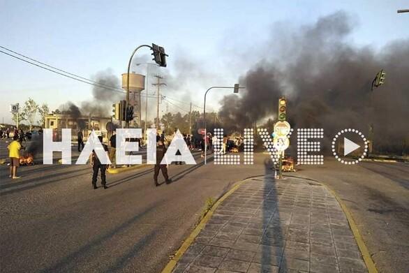 Ρομά έχουν αποκλείσει την Πατρών - Πύργου για το θάνατo του 18χρονου στη Μεσσήνη (φωτο+βίντεο)