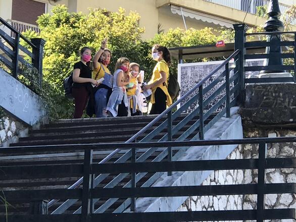 Πάτρα - Μαθητές επισκέφθηκαν το χώρο του καταφυγίου (φωτο)