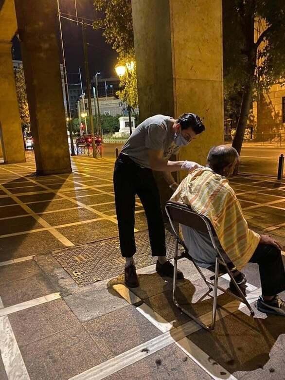 Δεν θα ήταν υπέροχο να γίνει και στην Πάτρα; - Οι κουρείς που φρόντισαν αστέγους