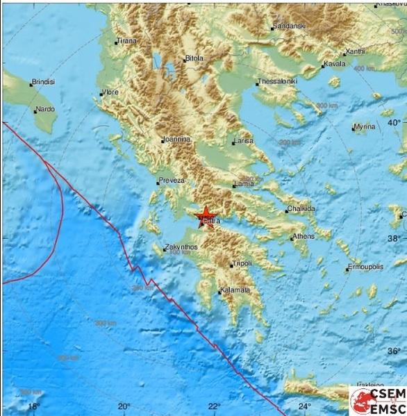 """Δυτική Ελλάδα: Σεισμική δόνηση """"ταρακούνησε"""" τη Ναύπακτο"""