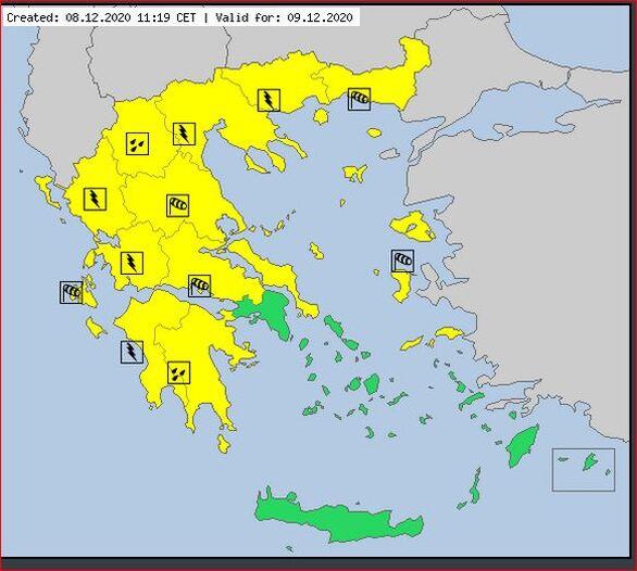 Δυτική Ελλάδα: Νέα επιδείνωση του καιρού από το βράδυ της Τρίτης