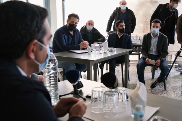 Οι έμποροι της Πάτρας ενημέρωσαν τον Αλέξη Τσίπρα για τα προβλήματα του lockdown (φωτο)