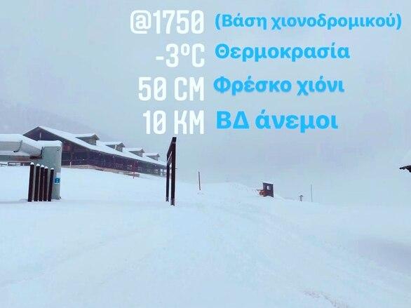 Στο Χιονοδρομικό Κέντρο Καλαβρύτων δεν έχει σταματήσει να χιονίζει (φωτό)