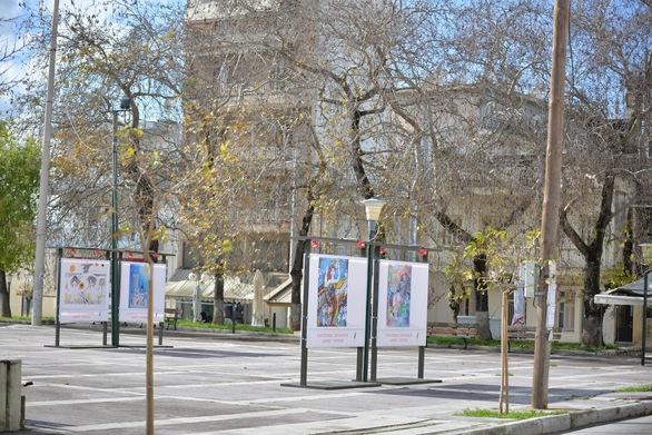 Πάτρα - Υπαίθρια έκθεση σε πλατείες με καρναβαλικά έργα (φωτο)