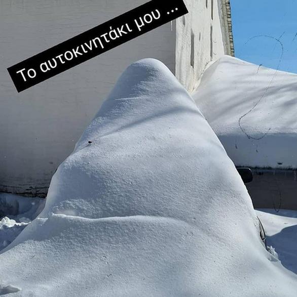 """Βασίλης Χαραλαμπόπουλος - Το χιόνι """"έθαψε"""" το αυτοκίνητο του"""