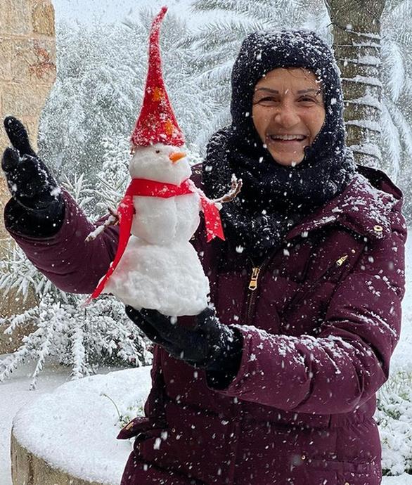 Η Άλκηστις Πρωτοψάλτη έφτιαξε έναν υπέροχο χιονάνθρωπο