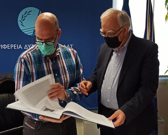 Αχαΐα: Συνάντηση Χ. Μπονάνου με τον Δήμαρχο Καλαβρύτων, Θ. Παπαδόπουλο και εκπροσώπους από τα Λαπατοχώρια