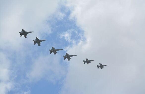 Τα αεροπλάνα της άσκησης «Ηνίοχος 2021» στον ουρανό της Δυτικής Ελλάδας