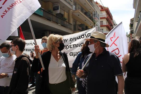 Πάτρα: Δυναμική η παρουσία του ΣΥΡΙΖΑ-Προοδευτική Συμμαχία στη συγκέντρωση για την Εργατική Πρωτομαγιά  (φωτο)
