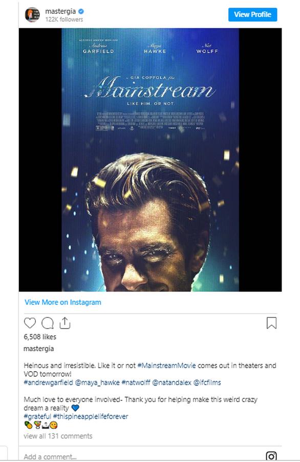 """""""Mainstream"""": Η νέα ταινία της Τζία Κόπολα"""