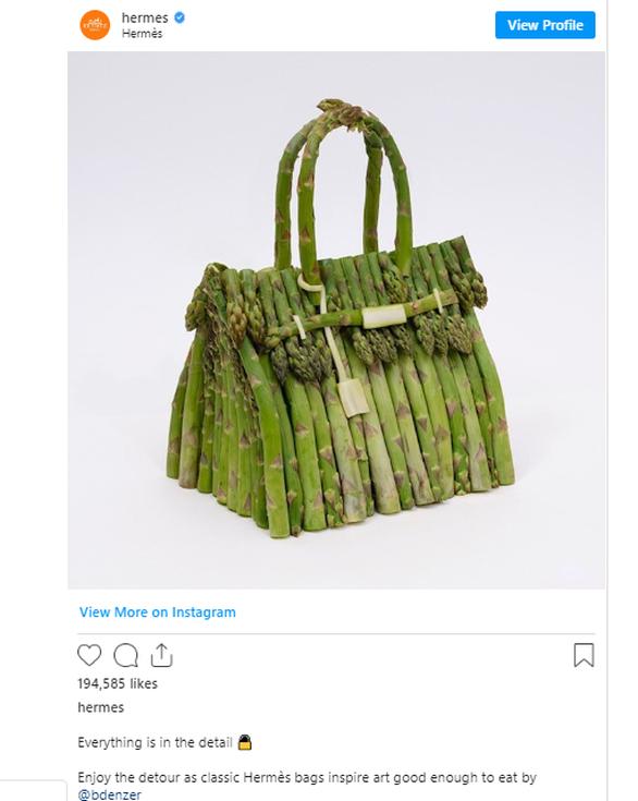 Η Hermès αποκαλύπτει μια νέα σειρά από τσάντες Birkin φτιαγμένες από φρέσκα λαχανικά