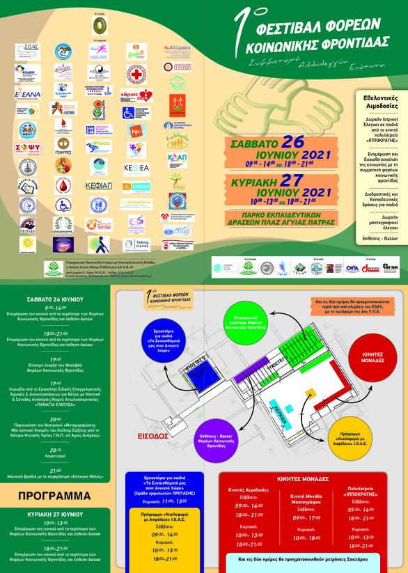 1ο Φεστιβάλ Φορέων Κοινωνικής Φροντίδας στο Πάρκο Εκπαιδευτικών Δράσεων Πλαζ