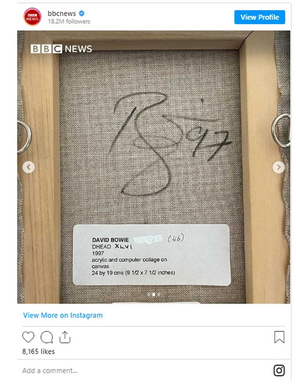 Πίνακας με υπογραφή David Bowie αγοράστηκε 5 δολάρια και τώρα θα δημοπρατηθεί