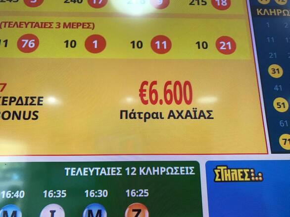 Η τύχη χαμογέλασε σε Πατρινό που κέρδισε 6.600 ευρώ στο ΚΙΝΟ