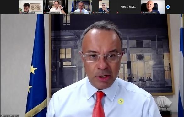 Ο Υπουργός Οικονομίας Χρήστος Σταϊκούρας στην συνεδρίαση του ΔΣ Επιμελητηρίου Αχαΐας